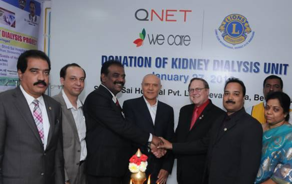 QNET Partners With Lions Clubs to Donate Kidney Dialysis Unit