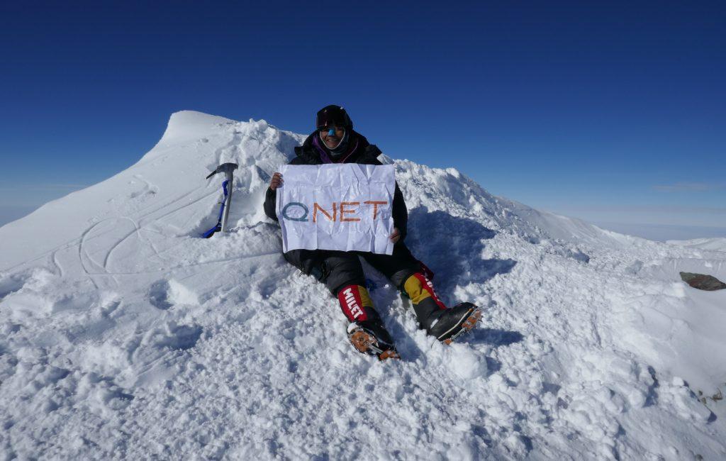 QNET India's brand ambassador Arunima Sinha during her Antarctica expedition