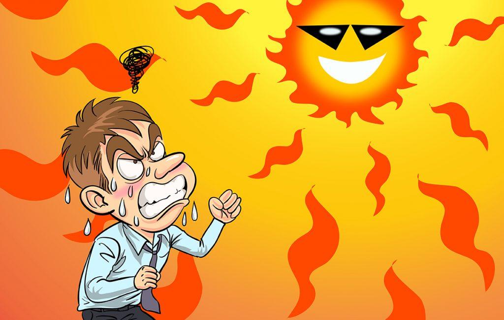 Harsh sun rays can cause stress