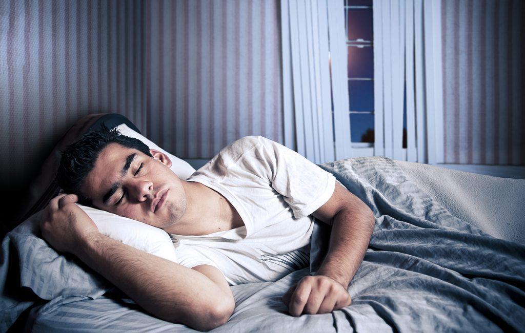 complete wellbeing : boy in deep sleep