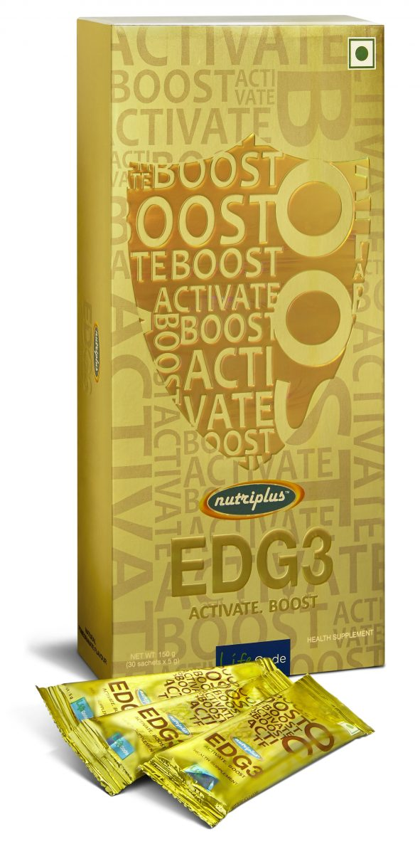 Immunity-boosting foods: An image of a box of Nutriplus EDG3