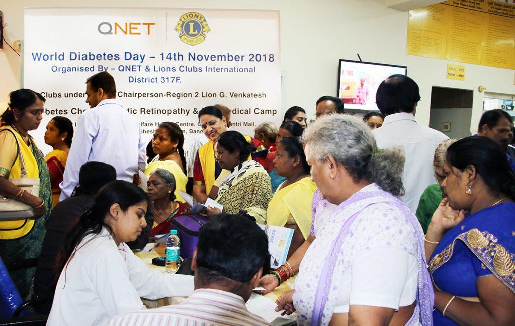 QNET India organised a free Diabetes camp in Bengaluru