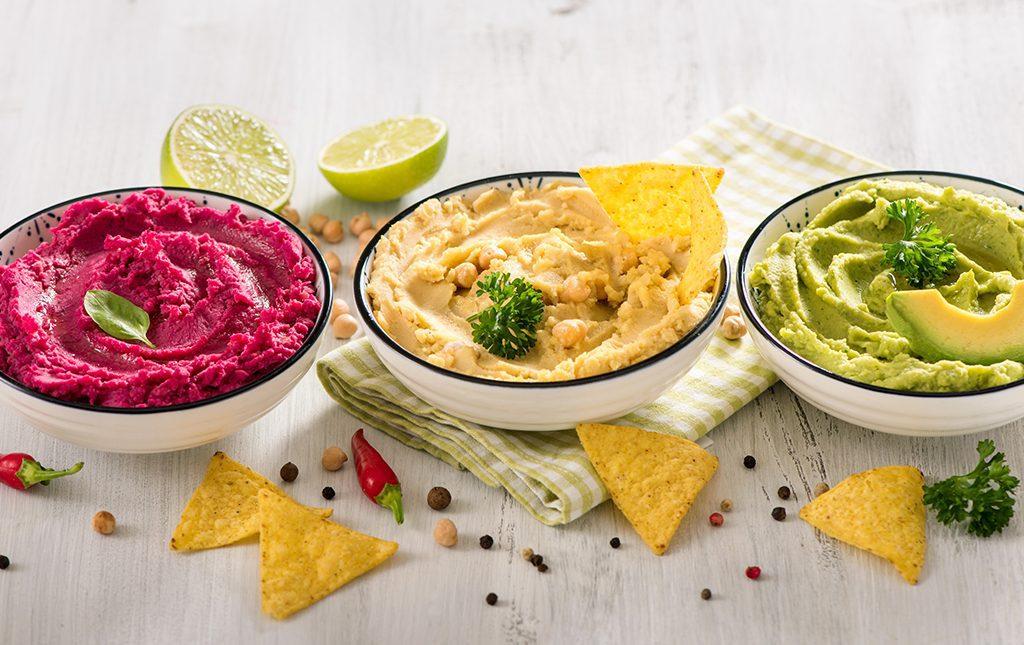 Nutriplus Kids Protein Power: 3 bowls of healthy dips