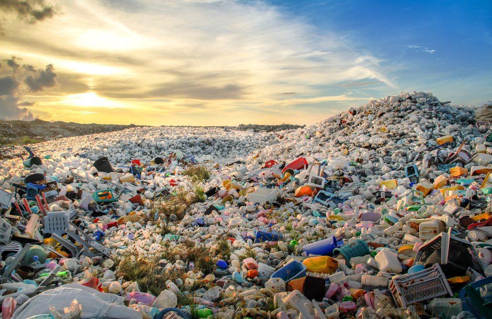 International Plastic Bag Free Day: Landfill of used plastics