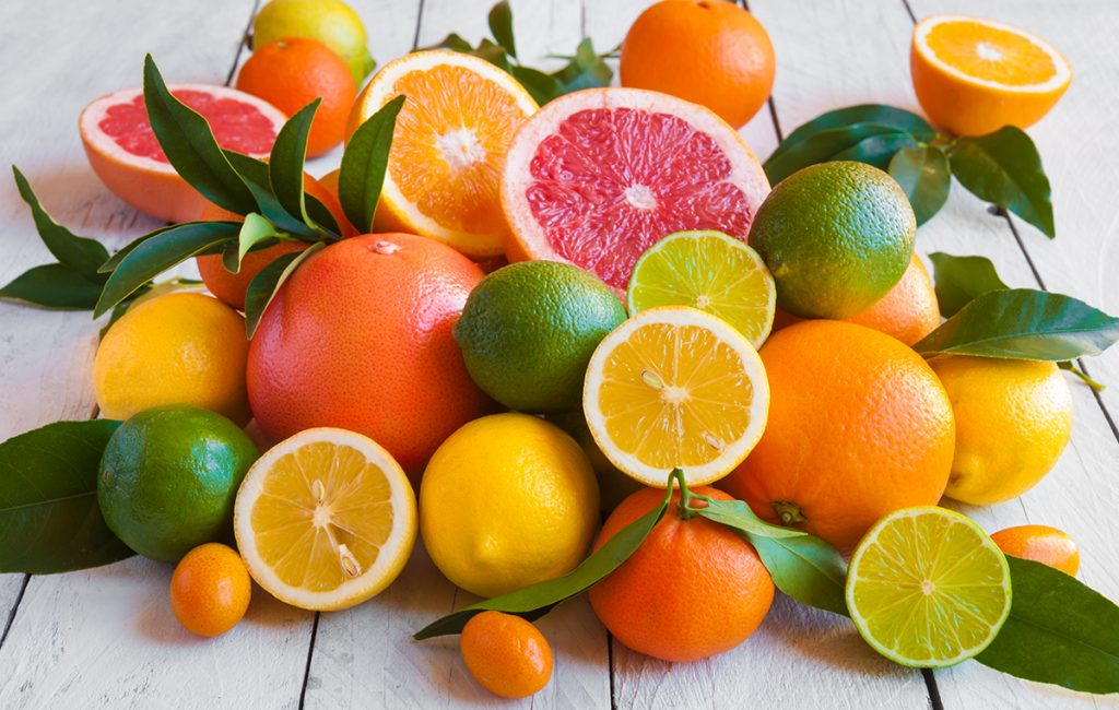 Immunity-boosting foods: a bunch of citrus rich fruits