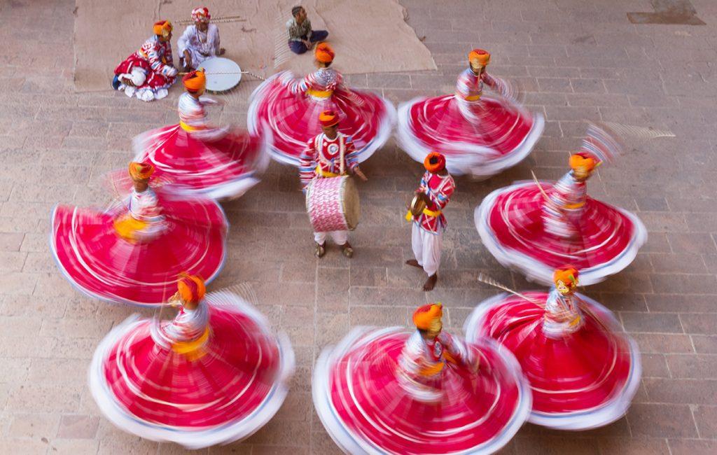 Colourful Rajasthani folk dance