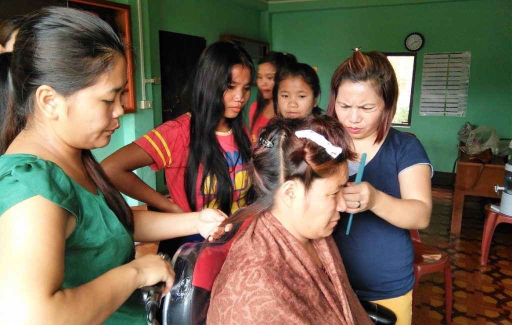 RYTHM Foundation: Manipuri women being trained in beauty and wellness programmes