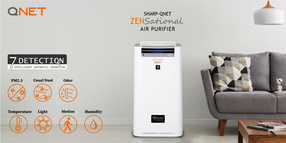 Sharp QNET Zensational air purifier