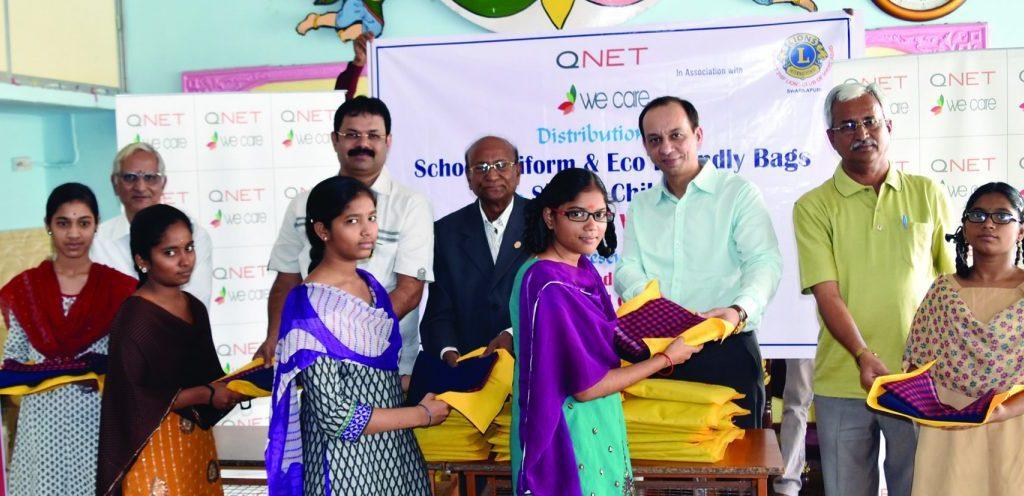 qnet-india-distributing-Uniforms-rythm