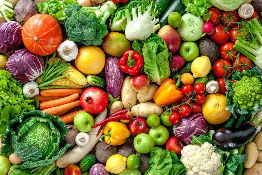 Fibre-rich vegetables