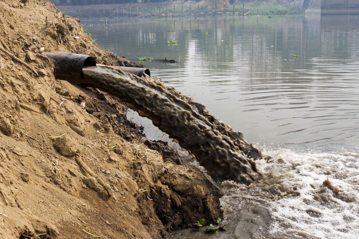 Waste disposal in water bodies