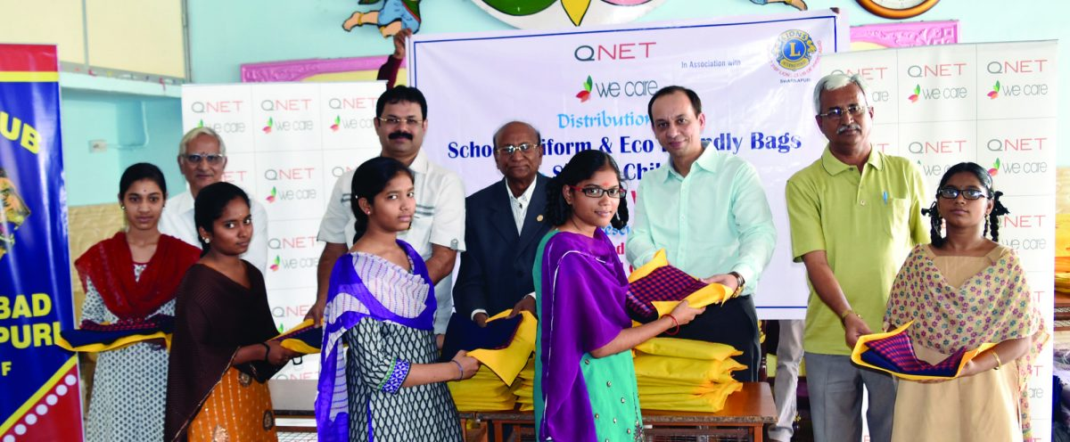 QNET Provides School Supplies to 1200 Kids