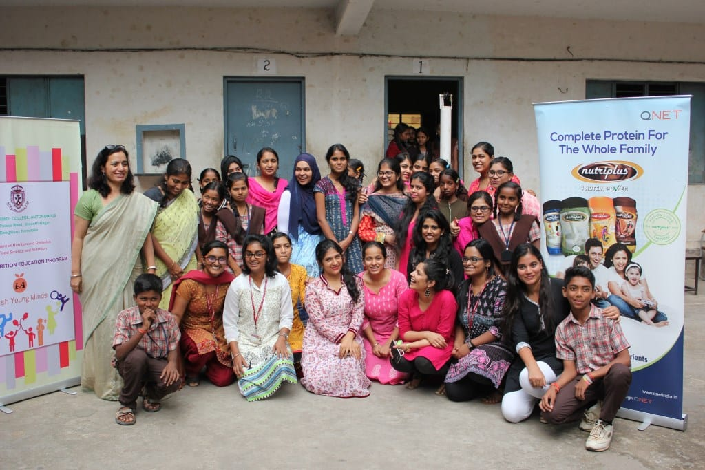 QNet India Partners with Mount Carmel College for the cause of Nutrition Education