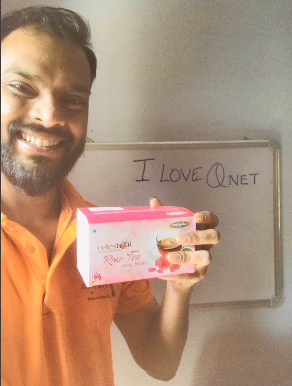 A partcipant of I Love QNET contest with Celesteal Rose Tea