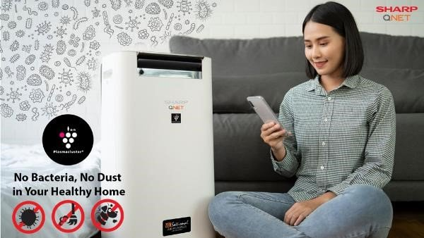SHARP QNET Zensational Air Purifier with built-in humidifier